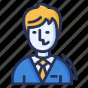 male, man, smart, tie icon