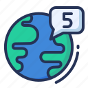 globe, media, network, social icon
