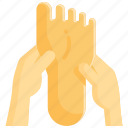foot, massage, relaxation, spa, therapy, treatment, wellness icon