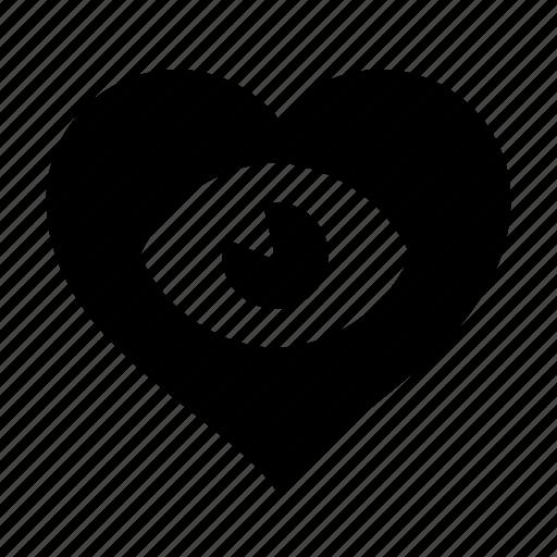 eye, heart, loving icon