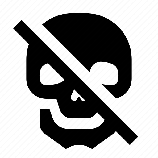antidot, danger, death, escape, skull icon