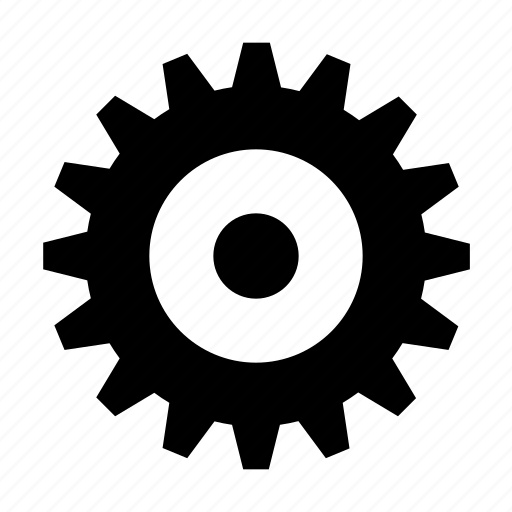 cogwheel, gear, industrial, mechanic icon