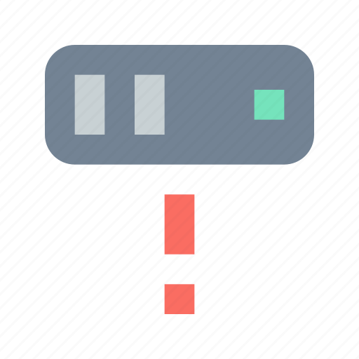 alert, database, server icon