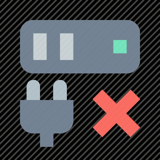 close, connection, server icon