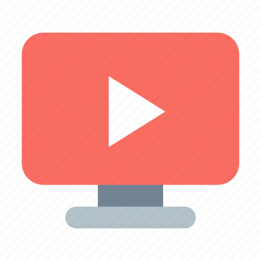 display, video, youtube icon