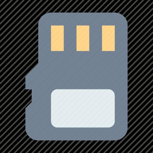 card, micro, sd icon