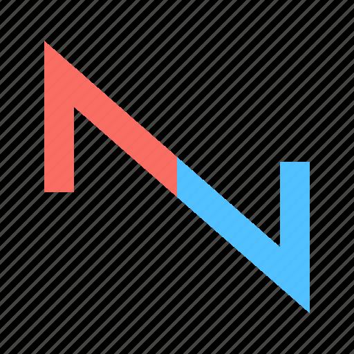 sawtooth, sound, wave icon
