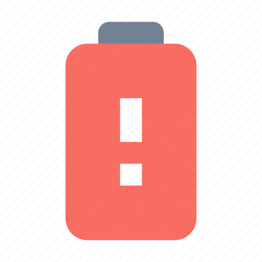 Alert, battery icon - Download on Iconfinder on Iconfinder
