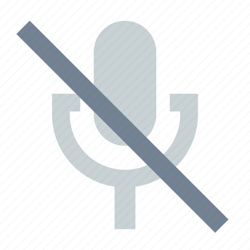 Broadcast, mic, mute icon - Download on Iconfinder