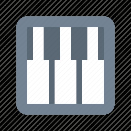 keyboard, piano icon