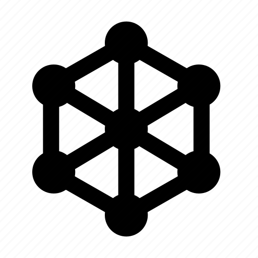 Crystal, lattice, connections icon - Download on Iconfinder