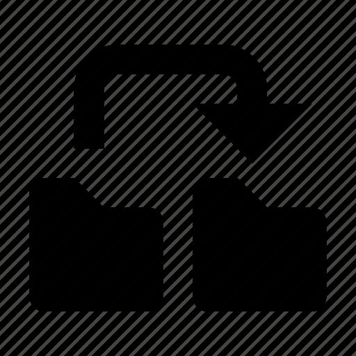 copy, folder, information, into, move icon