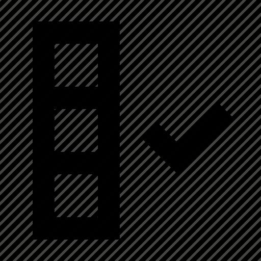 check, column, save icon
