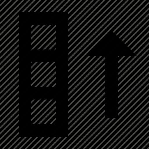 ascending, cell, database, matrix, sort, spreadsheet icon