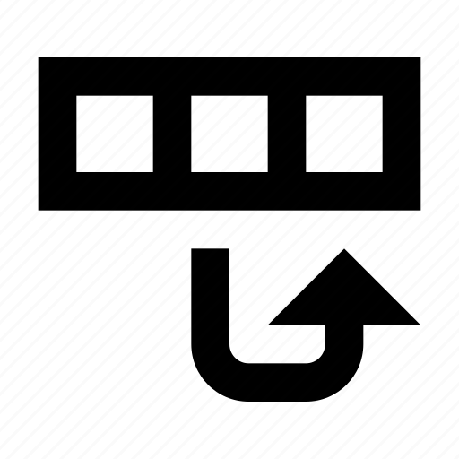 database, move, row icon