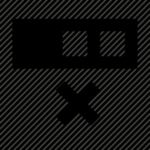 cell, database, delete, matrix, spreadsheet icon