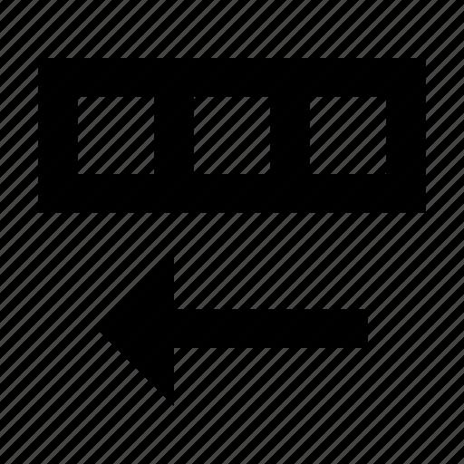 database, shift, sort icon