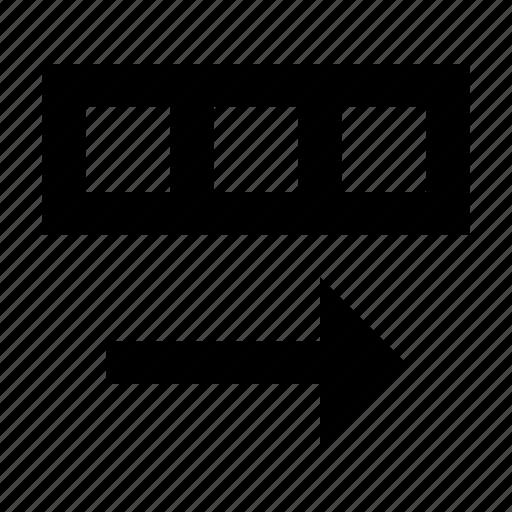 database, row, shift icon