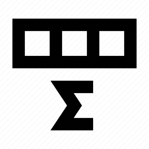 amount, cell, database, matrix, spreadsheet, sum icon