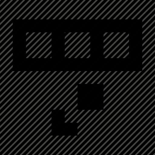 database, duplicate, row icon