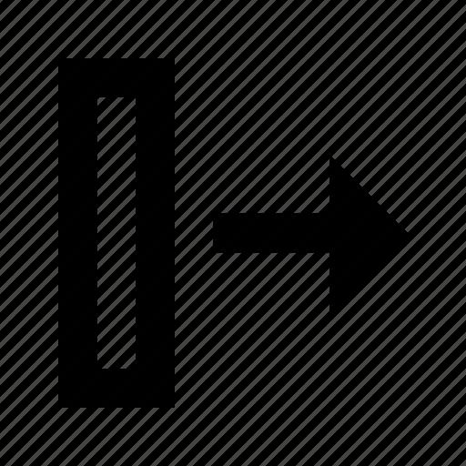 column, database, export icon