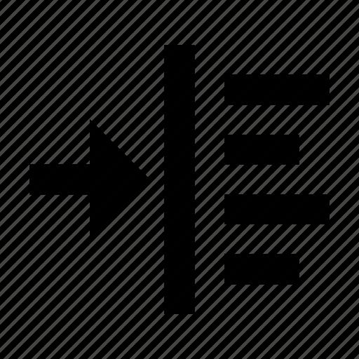 indent, left, margin, paragraph, text icon