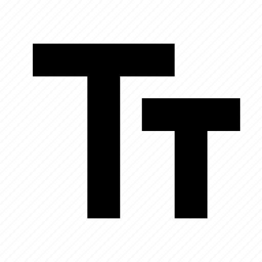 big, caps, font, format, size, small, text icon