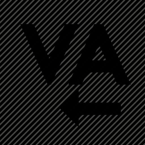 editing, kerning, text icon