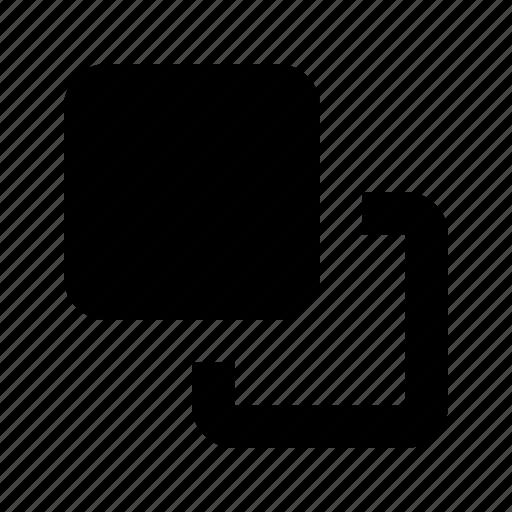 clone, copy, front, layers icon