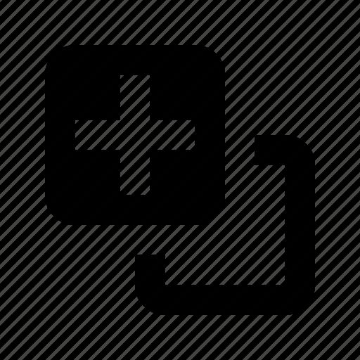 clone, copy, create, layers, new icon