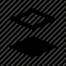 bottom, depth, layer icon