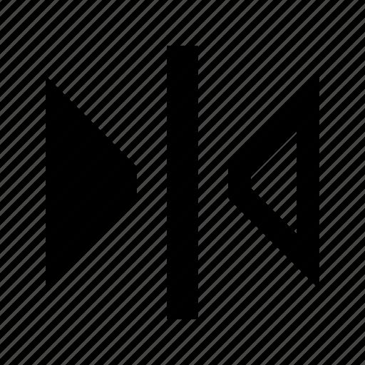 flip, horizontal, mirror, reflect, tool icon
