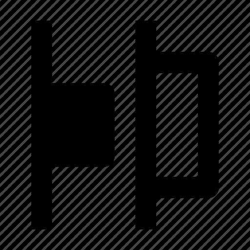 distrib, distribute, horizontal, left, objects, tool icon