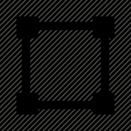 anchor, rectangle, shape, transform icon