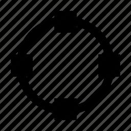 anchor, circle, path, points, shape, transform icon