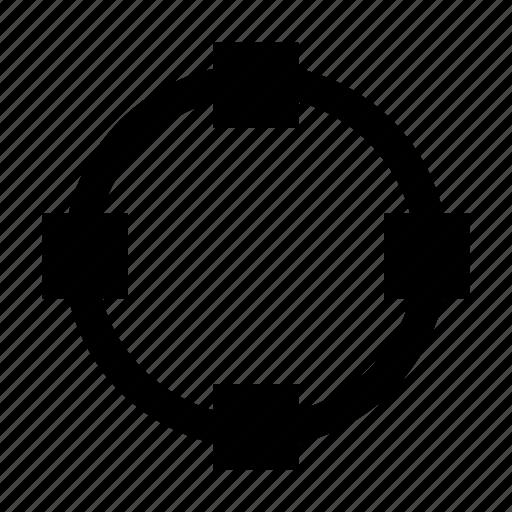 anchor, circle, shape, transform icon