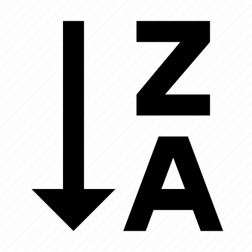 alphabetical, order, sort, sorting icon