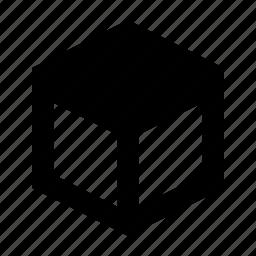 cube, edge, top icon