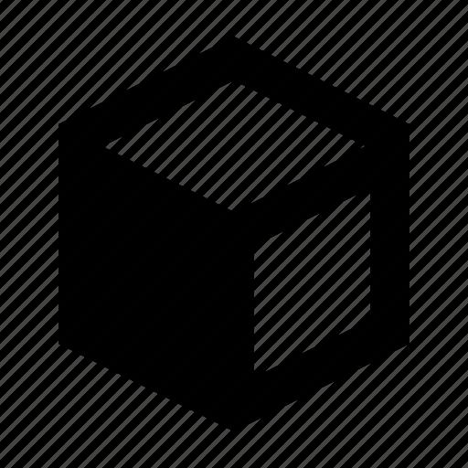 cube, edge, left icon