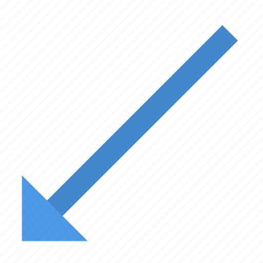 Arrow, down, left icon - Download on Iconfinder