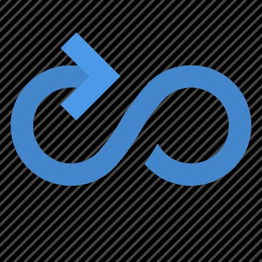 arrow, cycle, infinity icon