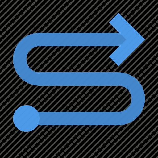 arrow, oneway, route icon