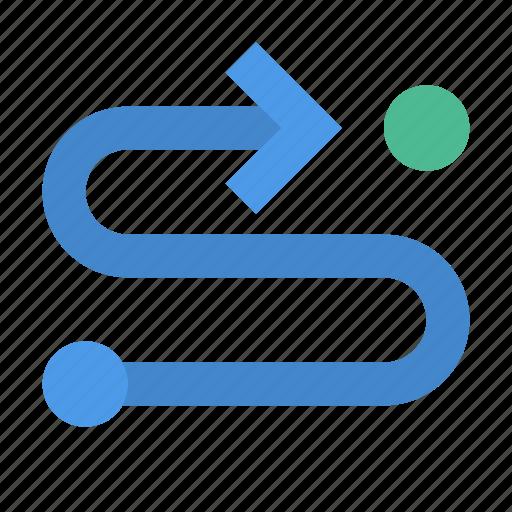 arrow, route icon