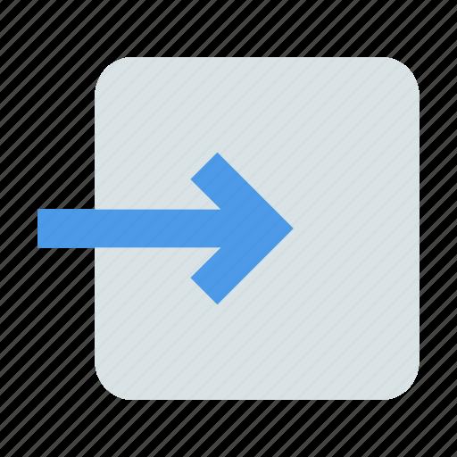 arrow, enter, login icon