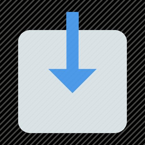 arrow, indoor, inside icon