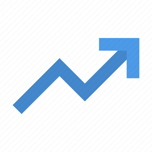 chart, rise icon