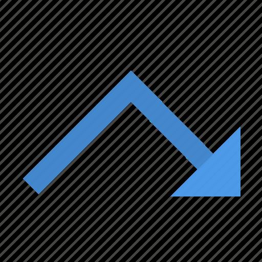 chart, fall, rise icon