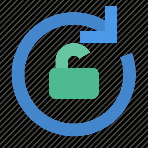 rotate, unlock icon