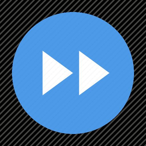 rewind, round icon