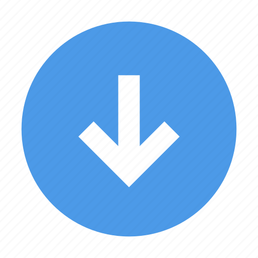 Arrow, down, round icon - Download on Iconfinder